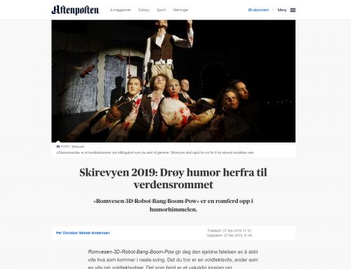 Aftenposten: Drøy humor herfra til verdensrommet «Romvesen-3D-Robot-Bang-Boom-Pow» er en romferd opp i humorhimmelen.