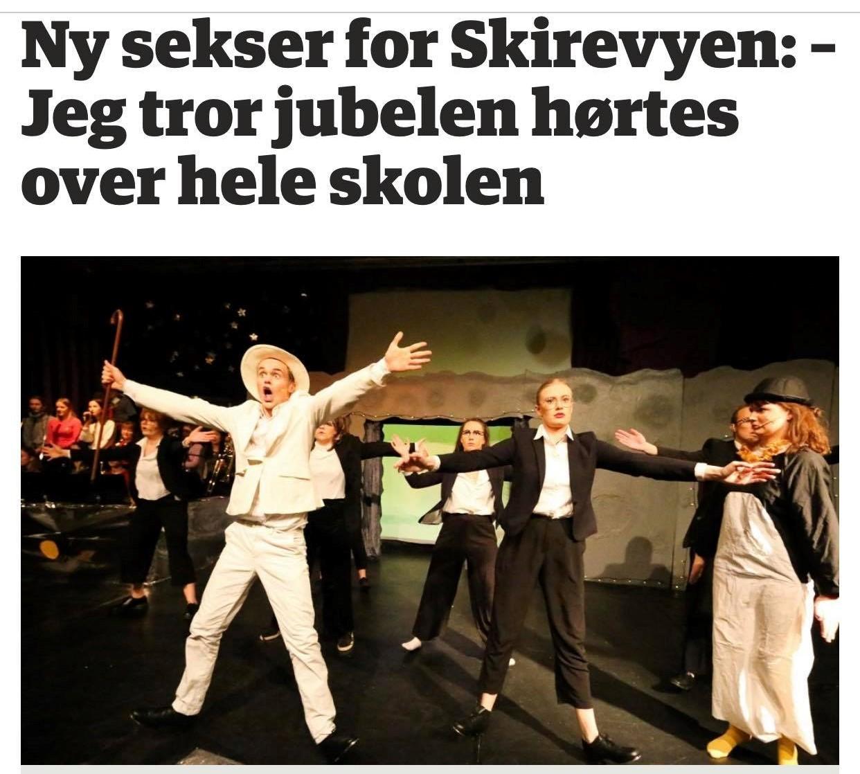 Bilde av bilde og overskrift av Skirevyen i ØB
